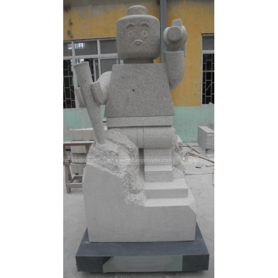 Granite Lego Sculpture Figure Sculpture, Granite Outdoor Sculpture, Granite decorative Sculpture